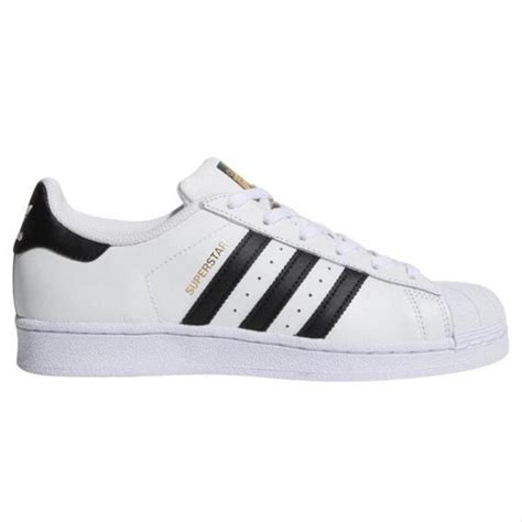 Adidas White Sneakers With Black Stripes
