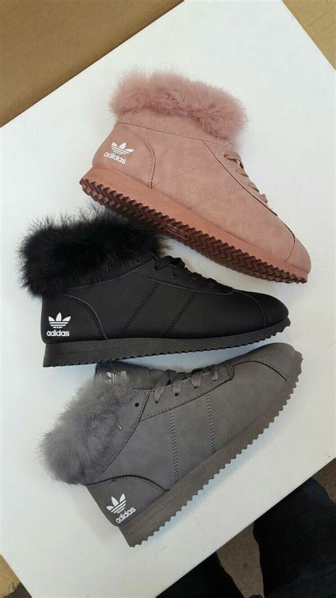 Adidas With Fur Sneakers