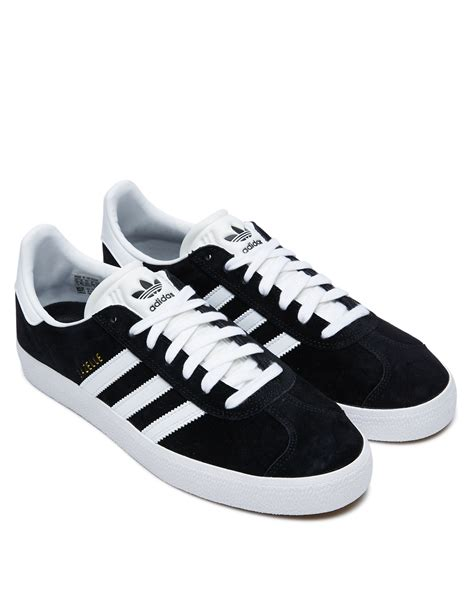 Adidas Women's Black & White Gazelle Sneakers