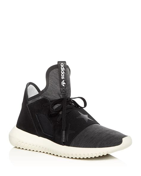 Adidas Women's Tubular Defiant Lace Up Sneakers Celebrity