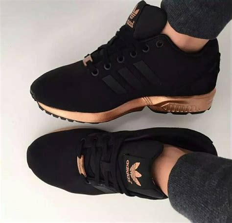 Adidas Women's Zx Flux Valentine's Gold Sneakers
