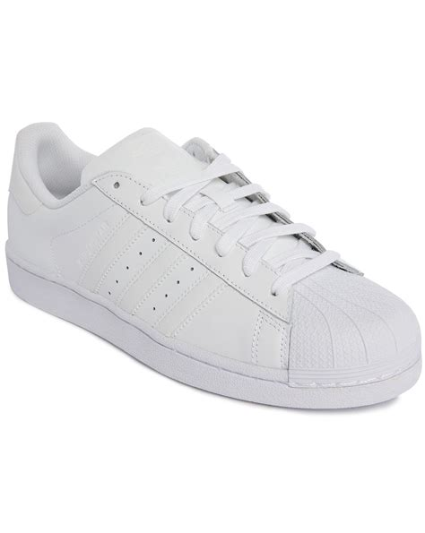 Adidas Womens White Leather Sneakers