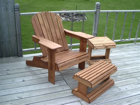 Adirondack Chair And Ottoman Plans