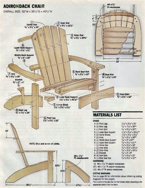 Adirondack Chair And Ottoman Plans Free