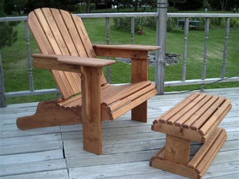 Adirondack Chair And Ottoman Woodworking Plan