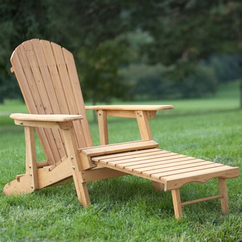 Adirondack Chair With Pull Out Footrest Plans