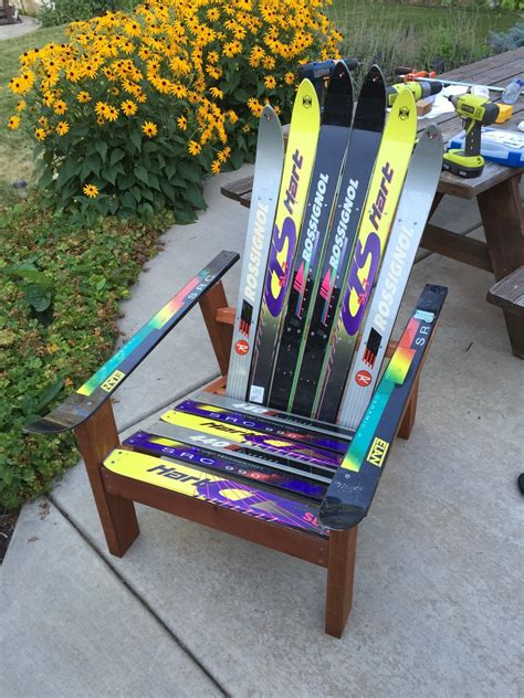 Adirondack Chairs Made From Skis Plansource Login