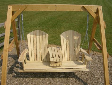 Adirondack Porch Swing With Cup Holder Plans