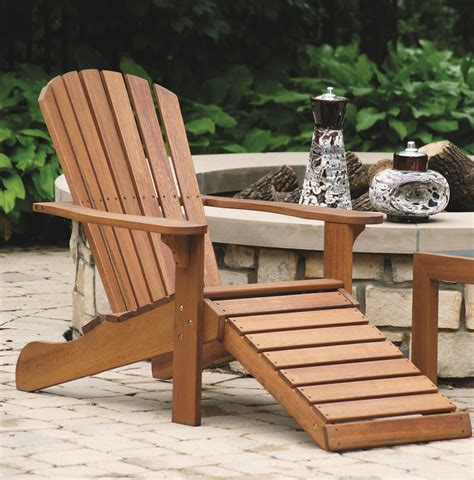 Adirondack-Chair-And-Built-In-Ottoman