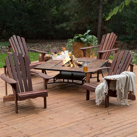 Adirondack-Chair-And-Fire-Pit-Set