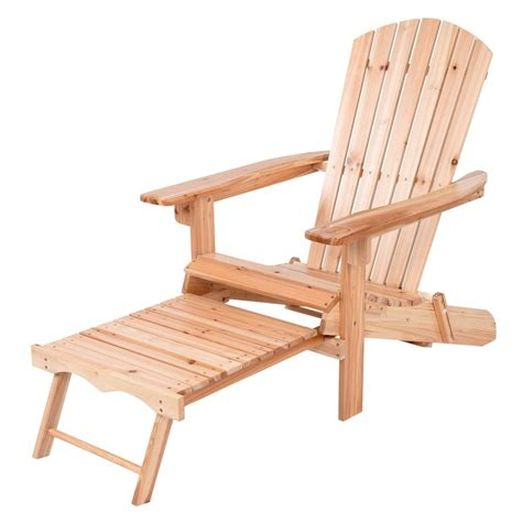 Adirondack-Chair-And-Footrest-Unfinished
