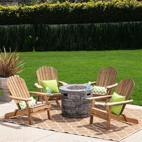 Adirondack-Chair-Firepit-Set