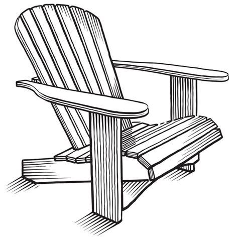 Adirondack-Chair-Line-Art