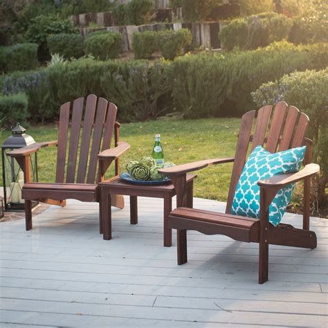Adirondack-Chair-Set-With-Attached-Table