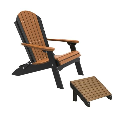 Adirondack-Chair-With-Ottoman-Plastic