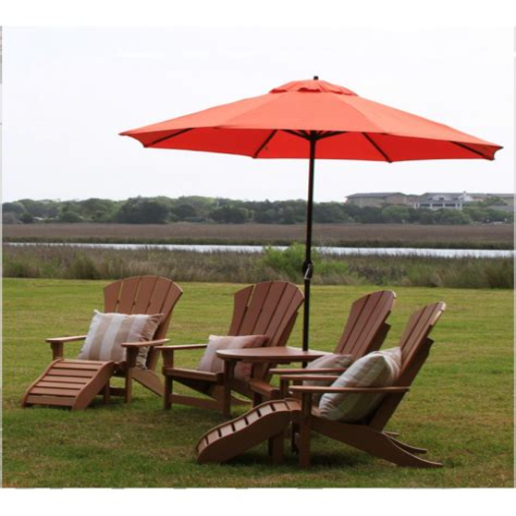 Adirondack-Chair-With-Umbrella-White-Pink
