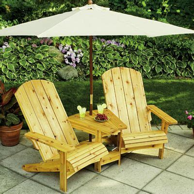 Adirondack-Chairs-With-Attached-Umbrella-Table