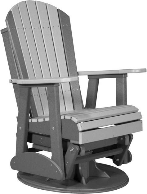 Adirondack-Recycled-Plastic-Swivel-Glider-Chair