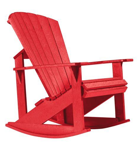 Adirondack-Rocking-Chair-Red