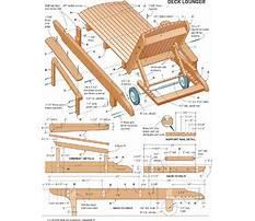Best Adirondack chaise lounge plans
