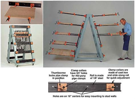 Adjustable 98502 Glue Up Clamp Rack Hardware And Plans