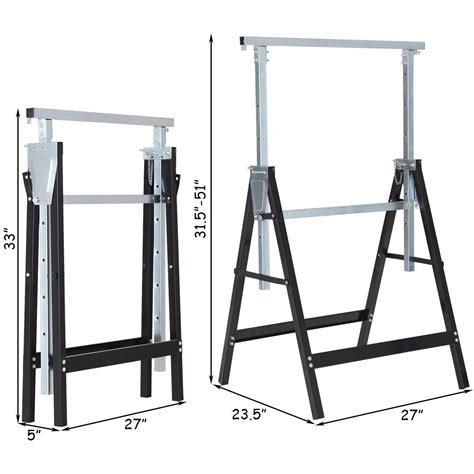 Adjustable Height Sawhorse Plans Folding