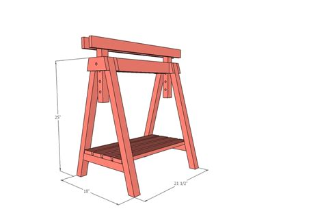 Adjustable Height Sawhorse Plans Simple