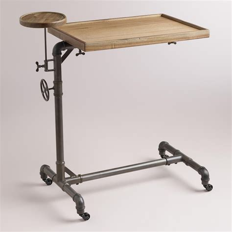 Adjustable Tilting Over Bed Table Diy Pipe