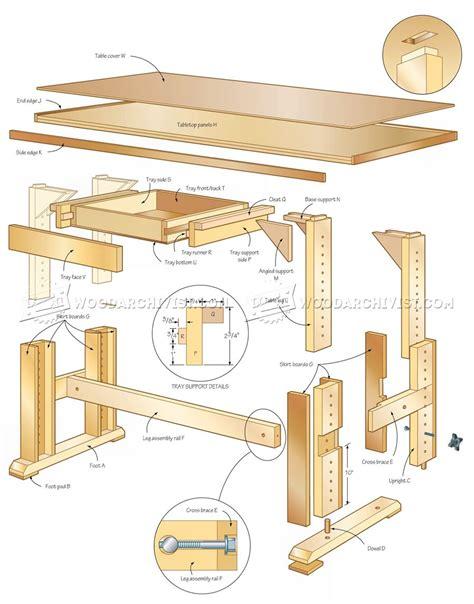 Adjustable-Height-Work-Table-Plans