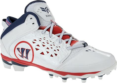 Adonis Rabil Cleats, White/Red/Blue, 14 D US