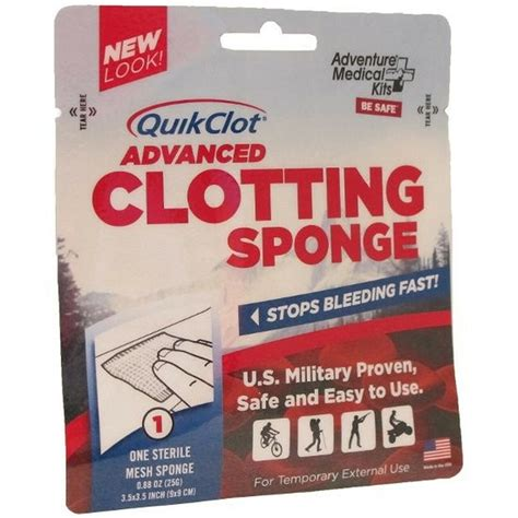 Adventure Medical Kits Quik Clot Sport Adv Clotting Sponge And Sawyer Permethrin Spray Best Price Guarantee At Dick S