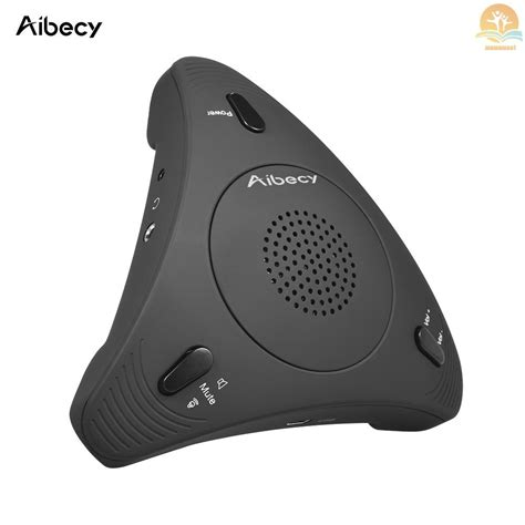 Aibecy Conference Microphone USB Desktop Computer Conference Omnidirectional Condenser Microphone Mic Speaker Speakerphone 360° Audio Pickup Plug & Play for Business Video Meeting