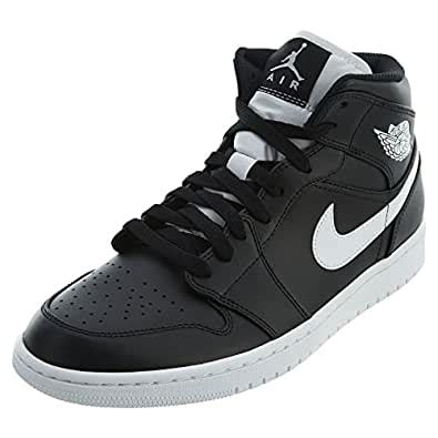 Air 1 Mid Men's Basketball Shoes Cool Black/White 554724-038 (10.5 D(M) US)