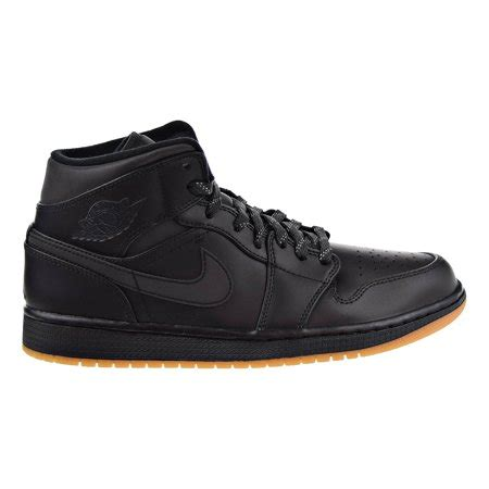 Air 1 Mid Winterized Men's Shoes Black/Anthracite-Gum Yellow aa3992-002 (8 D(M) US)