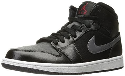 Air Jordan 1 Mid PREM Mens Hi Top Basketball Trainers 852542 Sneakers Shoes (US 12, black gym red dark grey white...