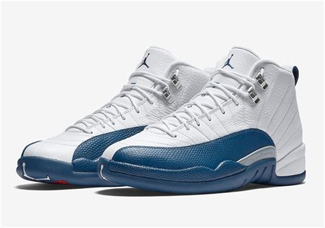 Air Jordan 12 XII Retro French Blue Men's Basketball Shoes 2016 Release 130690-113