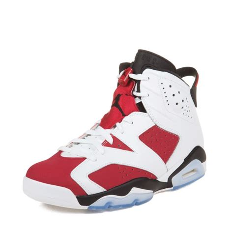 Air Jordan Retro 6 Men's Shoes White/Carmine-Black 384664-160