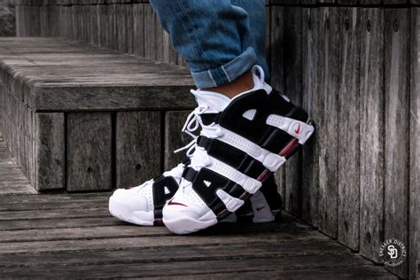 Air More Uptempo White Black University Red 414962 105