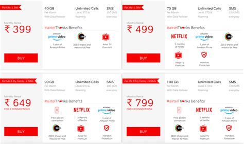Airtel New Plans Post Paid