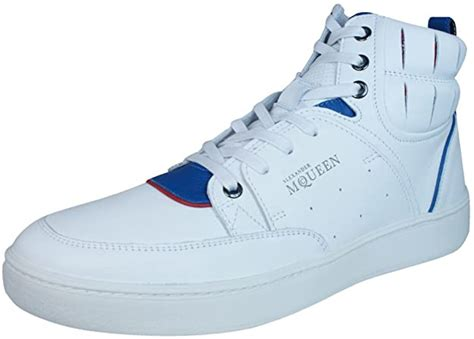 Alexander McQueen Summer Joust Mens Leather Sneakers/Hi Tops