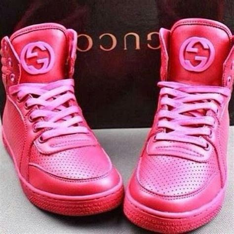 All Pink Gucci Sneakers