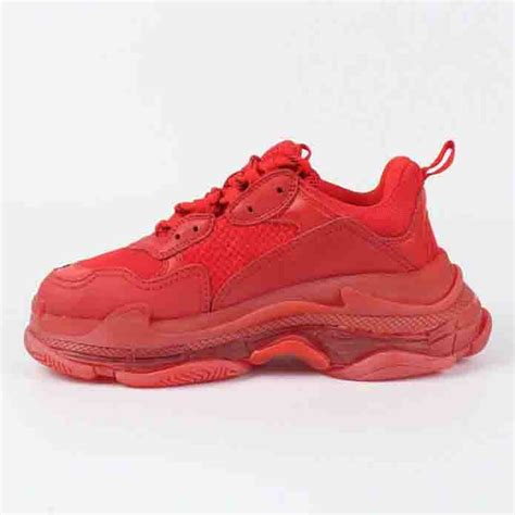 All Red Balenciaga Sneakers