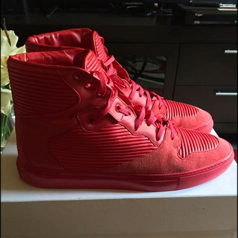 All Red Pleated Balenciaga Sneakers