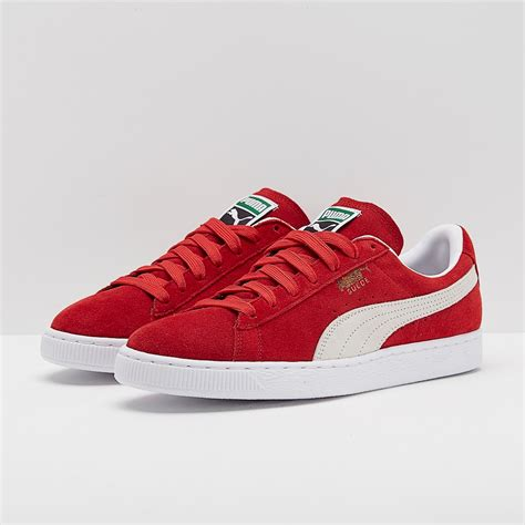 All Red Puma Suede Sneakers