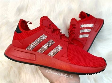 All Red Sneakers Womens Adidas