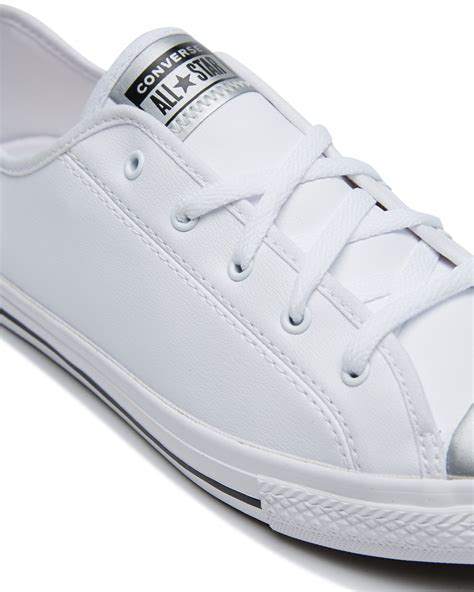 All White Converse Sneakers