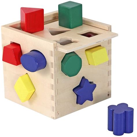 All Wooden Tool Cart With Tools And Shape Blocks For Toddlers