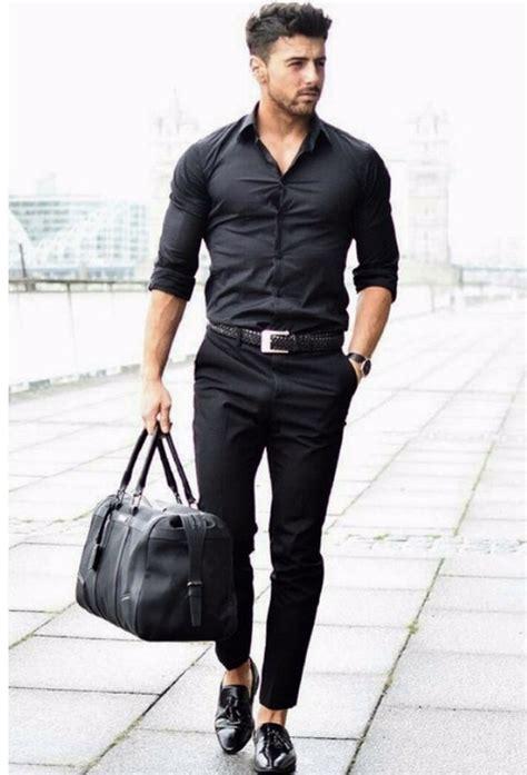 All Black For Men Slacks Shirts Photos