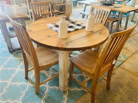All-Wood-Farmhouse-Round-Tables