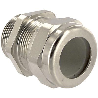 Altech Corp. 4266 022, Cable Gland; Brass; 17 to 20 mm Diameter, Cord Range; PG; PG 21; 44 mm; 28.3 mm